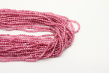 Tourmaline, Pink 2mm Faceted Strand