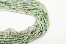 Amazonite, Rainbow 3mm Faceted Strand