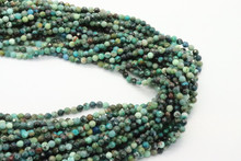 Chrysocolla, Chinese 3mm Faceted Strand