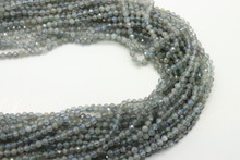 Labradorite 3mm Faceted Strand