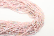 Morganite 3mm Faceted Strand