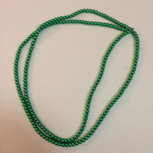 "4mm Green Glass Pearls 32"" Strand"