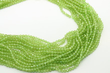 Peridot 3mm Faceted Strand