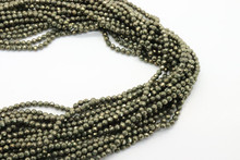 Pyrite 3mm Faceted Strand
