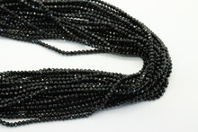 Tourmaline, Black 3mm Faceted Strand