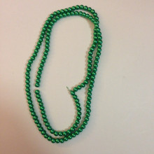 "6mm Green Glass Pearls 32"" Strand"