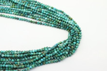 Turquoise, Chinese - Stabilized 3mm Faceted Strand