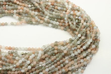 Moonstone, Colorful 4mm Faceted Strand