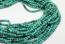 Turquoise, Chinese - Stabilized 4mm Faceted Strand