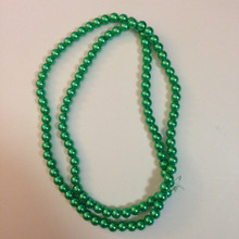 "8mm Green Glass Pearls - 32"" strand"