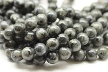 Labradorite, Black (Larvikite), Natural, Smooth Round