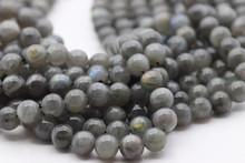 Labradorite, Blue, Natural, Smooth Round