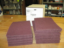 Norton 6X9 Bear Tex Hand Pads Maroon Box Of 20 $19.95