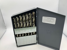 "Morse 29-Piece Drill Set, 1/16"" To 1/2"" By 64ths, High Speed Steel, USA Made New"