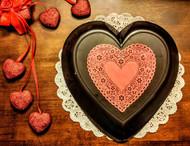 Lang's Chocolates 3lb dark chocolate heart