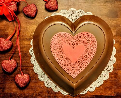 Lang's Chocolates 3lb Milk chocolate heart