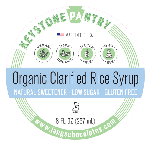 Keystone Pantry Organic Clarified Rice Syrup label