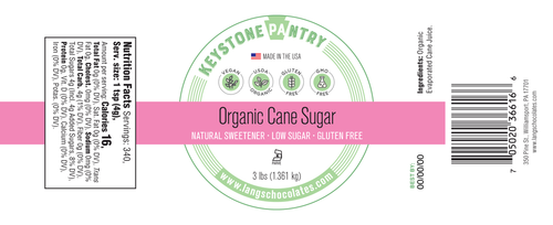 keystone pantry Organic Cane Sugar ingredient label