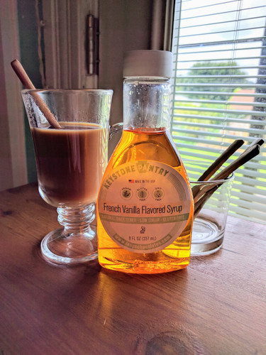 Keystone Pantry French Vanilla Flavored syrup, sweetened with Allulose and Monk Fruit