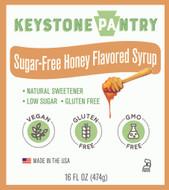 Keystone Pantry Sugar Free Honey Flavored Syrup 1 pint bottle main label