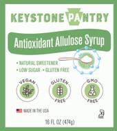 Keystone Pantry Antioxidant Allulose Syrup 1 pint bottle main label