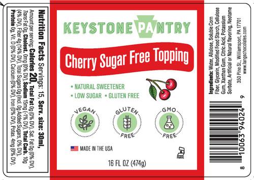 Keystone Pantry Cherry Sugar-Free Topping full label