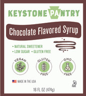 Keystone Pantry Chocolate Flavored Syrup 1 pint bottle main label