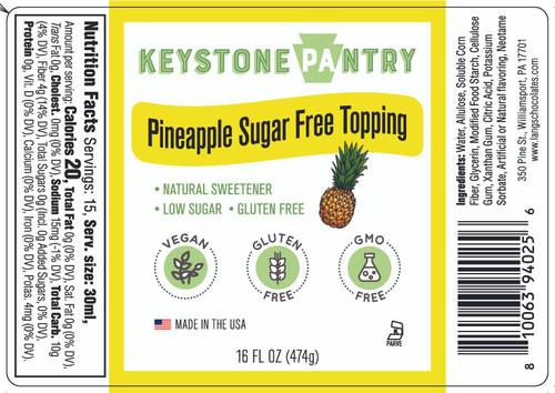 Keystone Pantry Pineapple Sugar-Free Topping full label