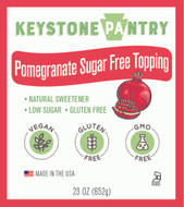 Keystone Pantry Pomegranate Sugar-Free Topping main label