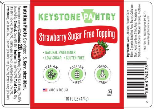 Keystone Pantry Strawberry Sugar-Free Topping full label