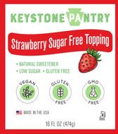 Keystone Pantry Strawberry Sugar-Free Topping main label