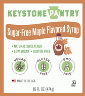 Keystone Pantry Sugar-Free Maple Flavored Syrup 1 pint bottle main label