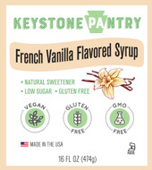 Keystone Pantry French Vanilla Flavored Syrup 1 pint bottle main label
