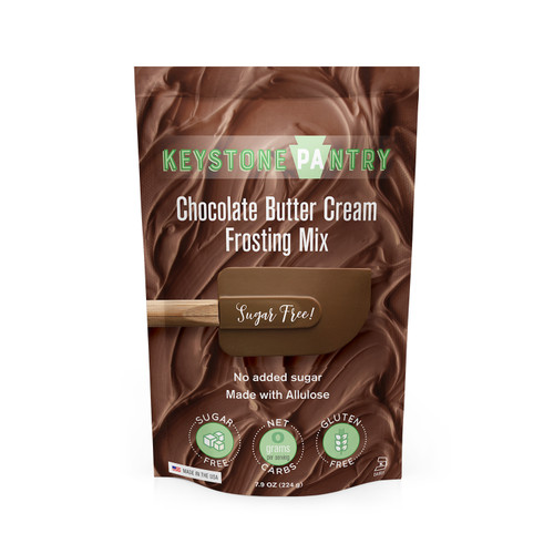 Keystone Pantry Sugar-Free Chocolate Butter Cream Frosting Mix bag front