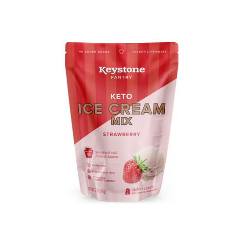 Keystone Pantry Keto Ice Cream strawberry front