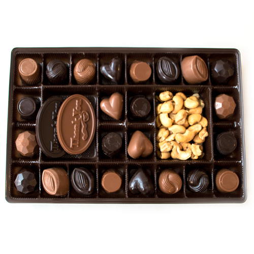 Chocolate Sampler Thank You Box | Finest Belgian & Milk Chocolates from Lang's Chocolates