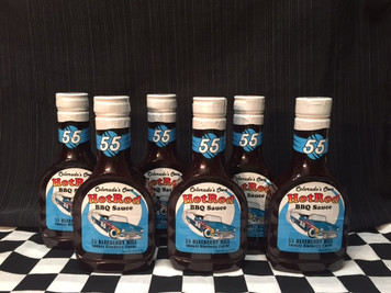 """6 Pack of """"55 Blueberry Hill""""  Sweet and Smokey BBQ Sauce"""