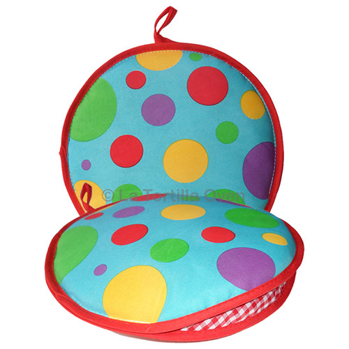 La Tortilla Oven Color Polka Dots Insulated Tortilla Warmer-Microwave Fabric Pouch