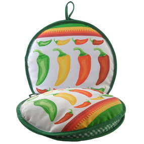La Tortilla Oven 10-inch Mexicali Peppers Tortilla Warmer