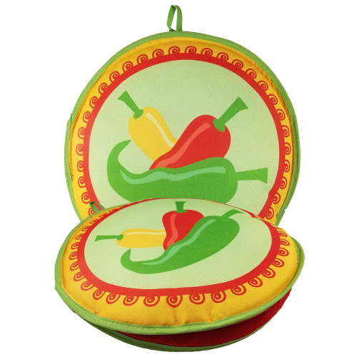 La Tortilla Oven 3 Peppers 10-inch Tortilla Warmer front + flat