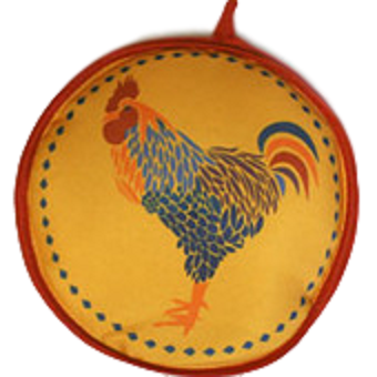 La Tortilla Oven 10-inch Yellow Rooster Insulated Tortilla Warmer