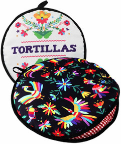 """Largest! TWO SIDED Tortilla Warmer, 12"""" Insulated and Microwaveable, Fabric Pouch Keeps Them Warm for up to One Hour! Perfect Holder for Corn & Flour, Insulated Keeper!"""