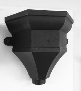 Cast Iron Effect Hopper to fit to 68mm round downpipe or 65mm square downpipe