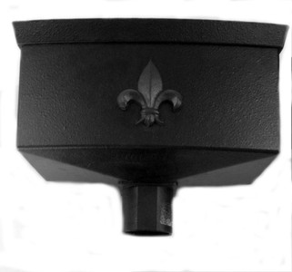 Cast Iron Effect Hopper for use with 68mm downpipe (Sold without Motif)