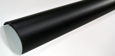 Half round guttering in the cast iron style - 112mm standard size in matt black