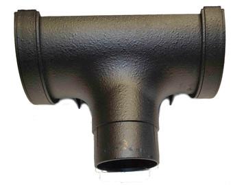 Half Round Running Outlet for 112mm Gutter - Cast Iron Effect