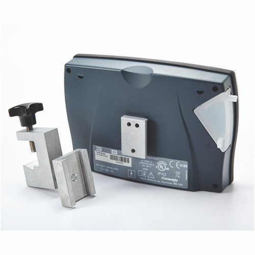 Nonin Mounting Bracket shown with the Adjustable Mounting Clamp SKU #7-600-02 SOLD SEPARATELY