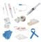 "IV Access Kit - 22g x 1 & 24g x 3/4 Catheter, 1 Tegaderm dressing, 1 Transpore tape, 1 Chloraprep, 1 pr gloves, 1 tourniquet, 1 alcohol prep, 2 gauze pads, 1 4"" IV Ext. Set, 1 10cc Filled in 10cc Syringe w/ Saline."