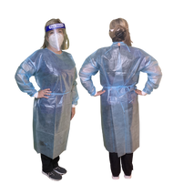 Image demonstrates medium size isolation gown.