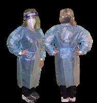Image demonstrates medium size isolation gown.